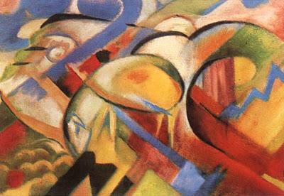 """""""El cordero"""" de Franz Marc"""