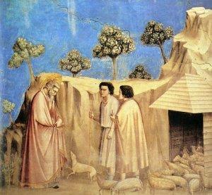 Retiro de San Joaquín entre los Pastores de Giotto