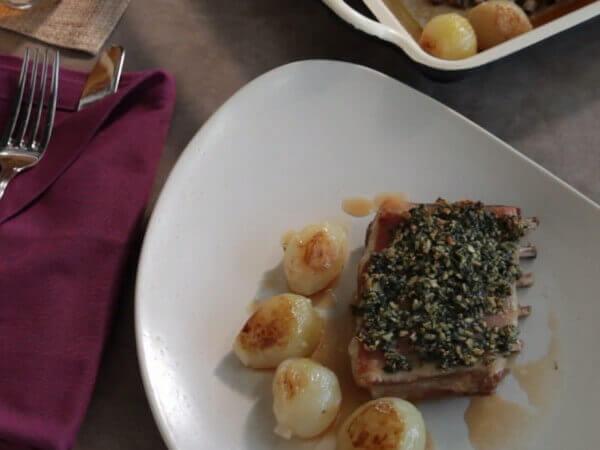 Receta de churrasco de cordero asado con hierbas