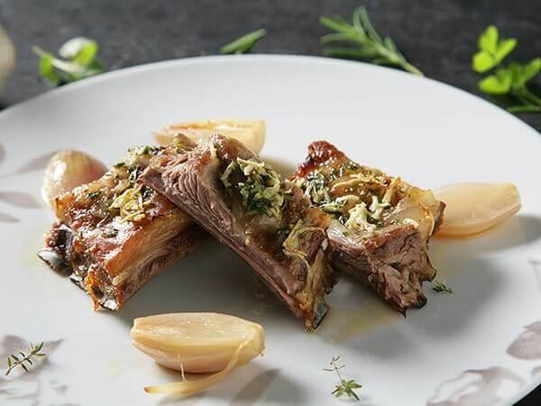 Receta de churrasco asado con hierbas