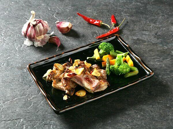 Receta de filete de carrillón a la plancha con verduras.